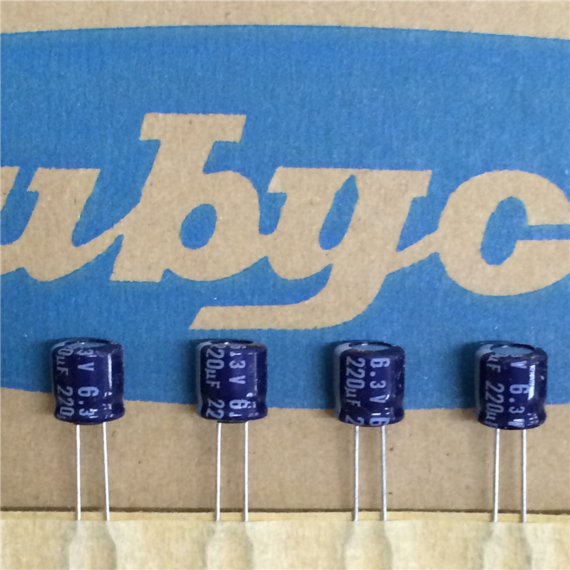 50pcs 220uF 6.3V Sanyo SS  6.3V220uF Solid Electrolytic Capacitor 8X10mm
