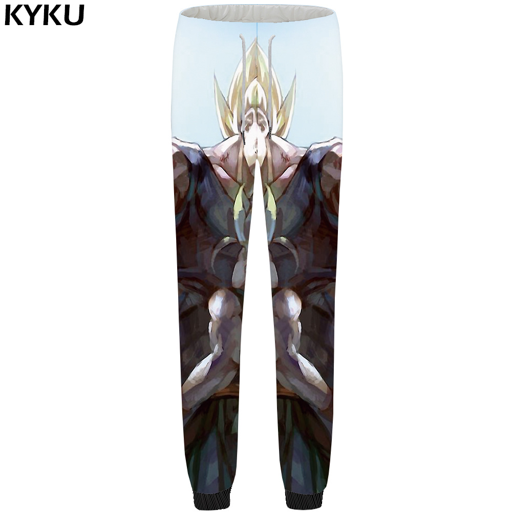 KYKU Dragon Ball Pants Men Goku Vintage Sweatpants Painting 3d Print Britches Muscle Cool Mens Trousers 2018 Casual Plus Size