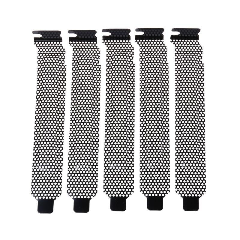 5 pièces déflecteur de Ventilation PCI fente couverture châssis Bits bloc ventilateur de refroidissement filtre à poussière Ventilation PC coque d'ordinateur Electrop