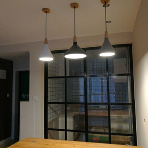 Image 5 - Modern Simple pendant lamps E27 Aluminum wood pendant lights italian lamp Home restaurant counter decoration lighting