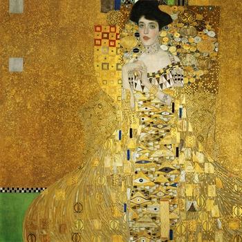 Handmade oil painting reproduction Adele Bloch-Bauer I by Gustav Klimt