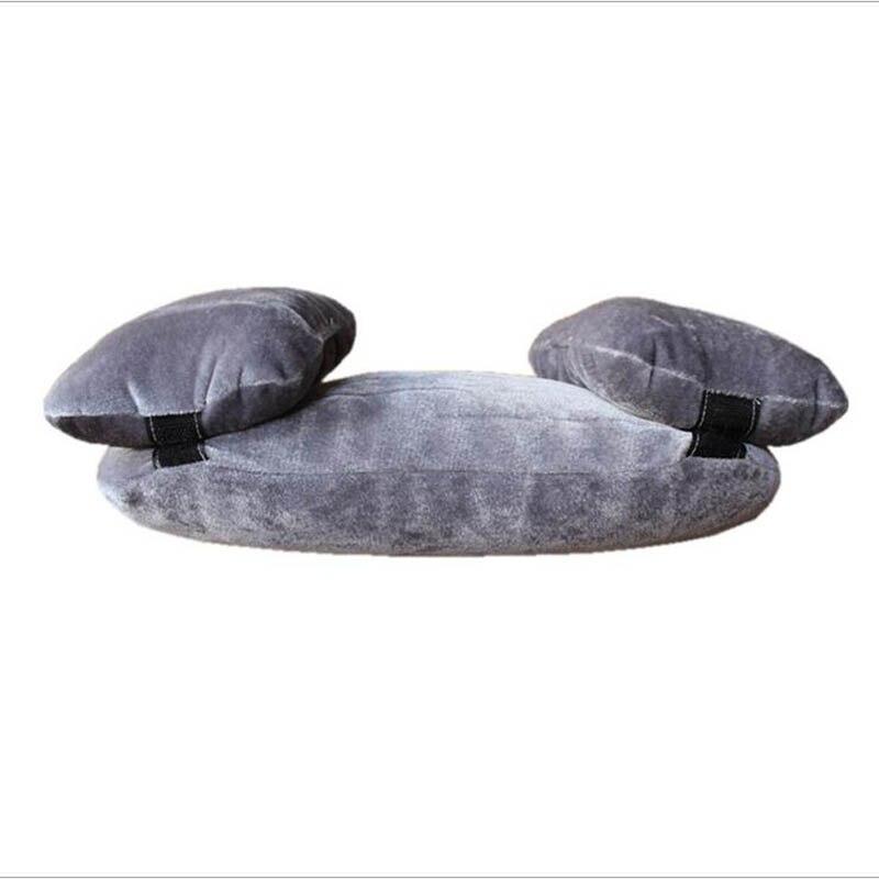 Новорожденный ребенок фото реквизит профессиональная позирующая подушка в форме полумесяца фотосъемка позиционер набор Белый хаки серый - Цвет: grey
