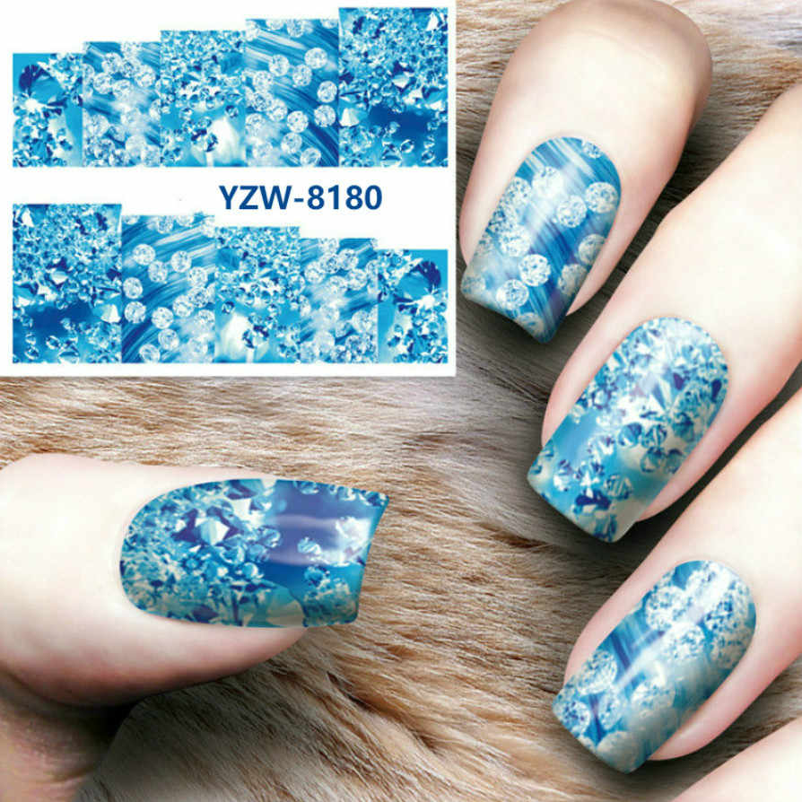 1pcs New Magic Flower Water Transfer Acrylic Powder Crystal Polymer Nail Art Design Builder False Tips Nails Art Builder Tools