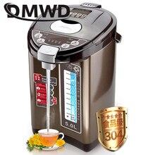 DMWD Теплоизоляция Электрический чайник из нержавеющей стали чайник 5L постоянная температура нагрев водонагреватель Бутылка ЕС