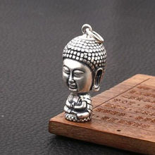 Exquisite White copper carving Sakyamuni Buddha small pendant
