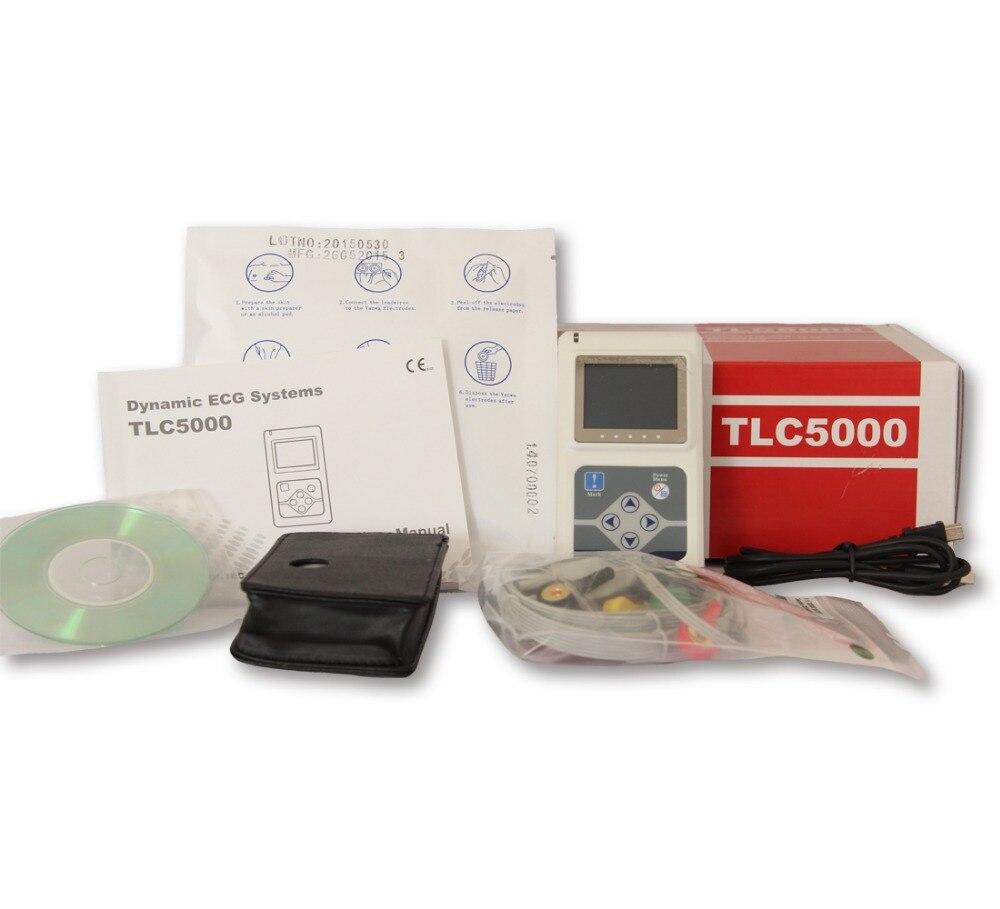 Contec Fabricant gratuite 12 Canaux Contec TLC5000 À main ECG/ECG Holter Enregistreur de Surveillance Système CE Certifié PAR LA FDA