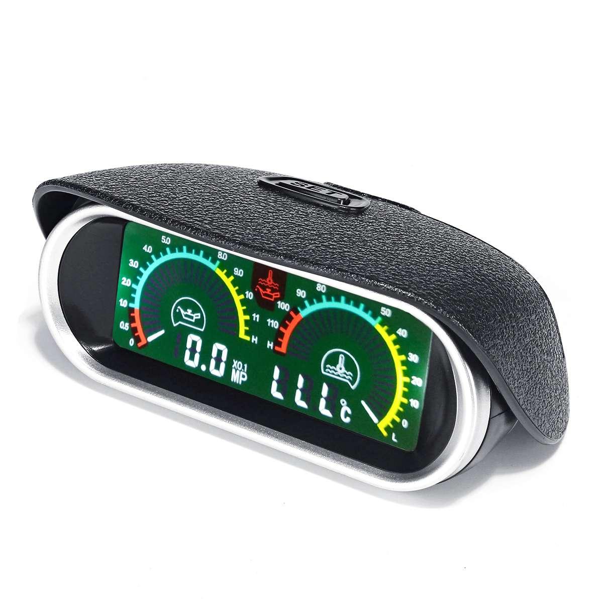 2 in 1 LCD Auto Digital Manometer Öl + Wasser Temperatur Meter mit 1/8 NPT Sensor e für Boot Auto lkw Racing für Universal 9-36 V