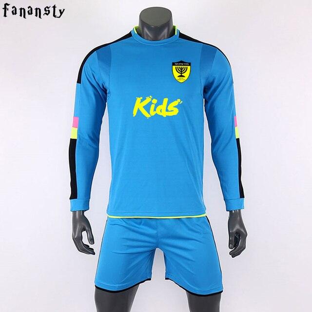 Survêtement football 2017 jérsei de futebol personalizado crianças meninos  camisa de futebol de Manga longa uniformes 998e80aafb545