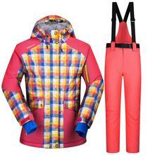 Nouvelle Arrivée 2016 combinaison de ski féminin Sports D'hiver En Plein Air de Neige veste De Ski Dames Veste Ensembles Pantalon Femmes Randonnée Camping Manteaux S-XXL
