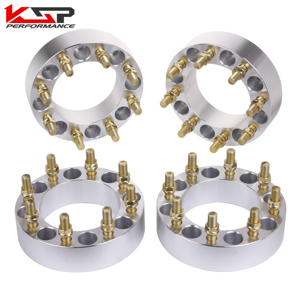 KSP 4 Pcs 2'' 50mm Thickness Wheel Spacers 8 Lug 8x6.5 To 8x6.5 (165.1) 9/16 Studs For Dodge Ram 2500 3500 Dually Heavy Duty 4pcs billet 4 lug 14 1 5 studs wheel spacers adapters for kia cerato