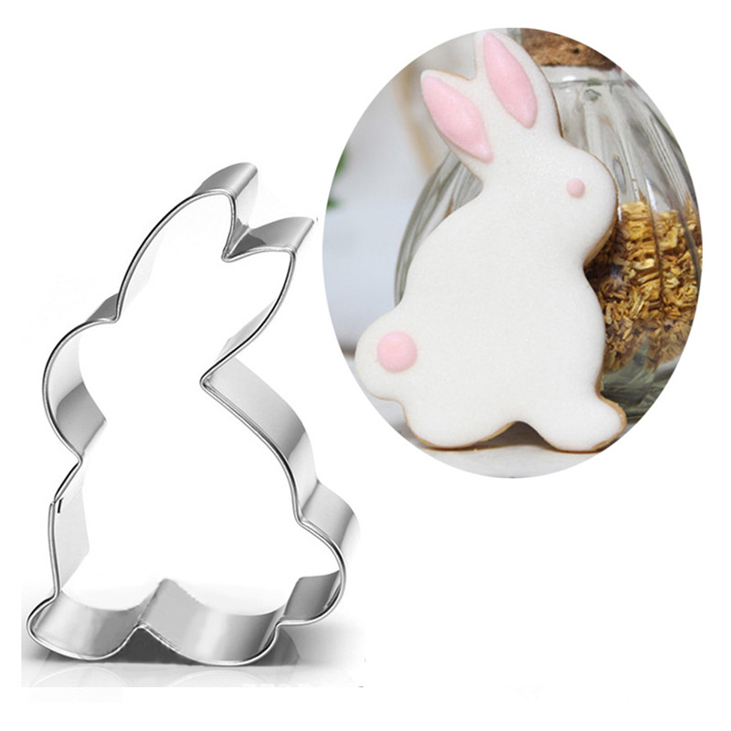 TTLIFE Animal Chocolate Cake Decorating Tools Australian White Rabbits Shape Cake Cookie Cutter Biscuit Baking Mold for Birthday