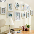 White Modern Photo Wall Frame Imitate Wooden Creative Gift White Photo Frame foto quadro 10PCS Set Collection Set Picture Frame