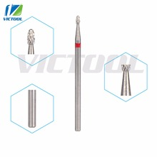 Victool Tungsten Nail Bits Small Flame Shape Universal Grit For Electric Nail File Drill Bit Pedicure Drill Manicure Tools 22