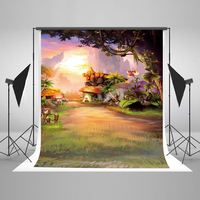 Kate 5x7ft / (1.5x2.2m) Cotten Photography Backdrop Cartoon Forest Photo Studio Props Background for Child Adult Lover