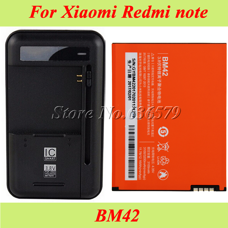 Dock-Charger 3100mah-Bm42 Accumulator Bateria Note-Battery Xiaomi Redmi Ce for Rice Hongmi