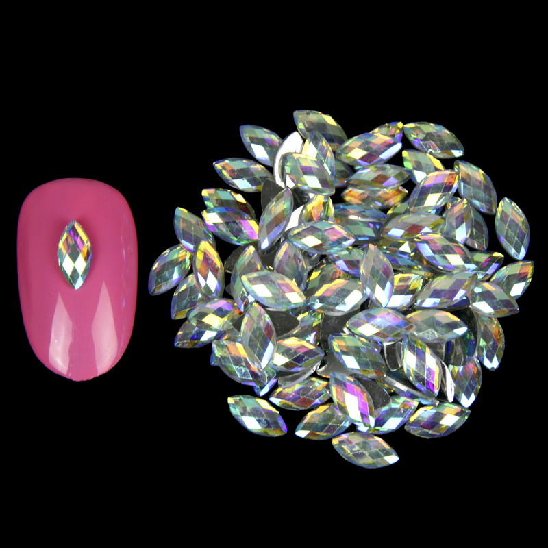 1000PCS/LOT AB Color Marquise Nail Art Rhinestones Women Decoration DIY Nail Jewelry Accessories 3D Nail Art Supply Tools WY505 1000pcs lot ab color marquise nail art rhinestones women decoration diy nail jewelry accessories 3d nail art supply tools wy505