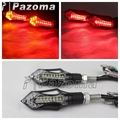 PAZOMA 2x Universal Motorcycle Turn Signal Light 14 LED Indicator Blinker Flasher With taillight For Honda Yamaha Suzuki Aprilia