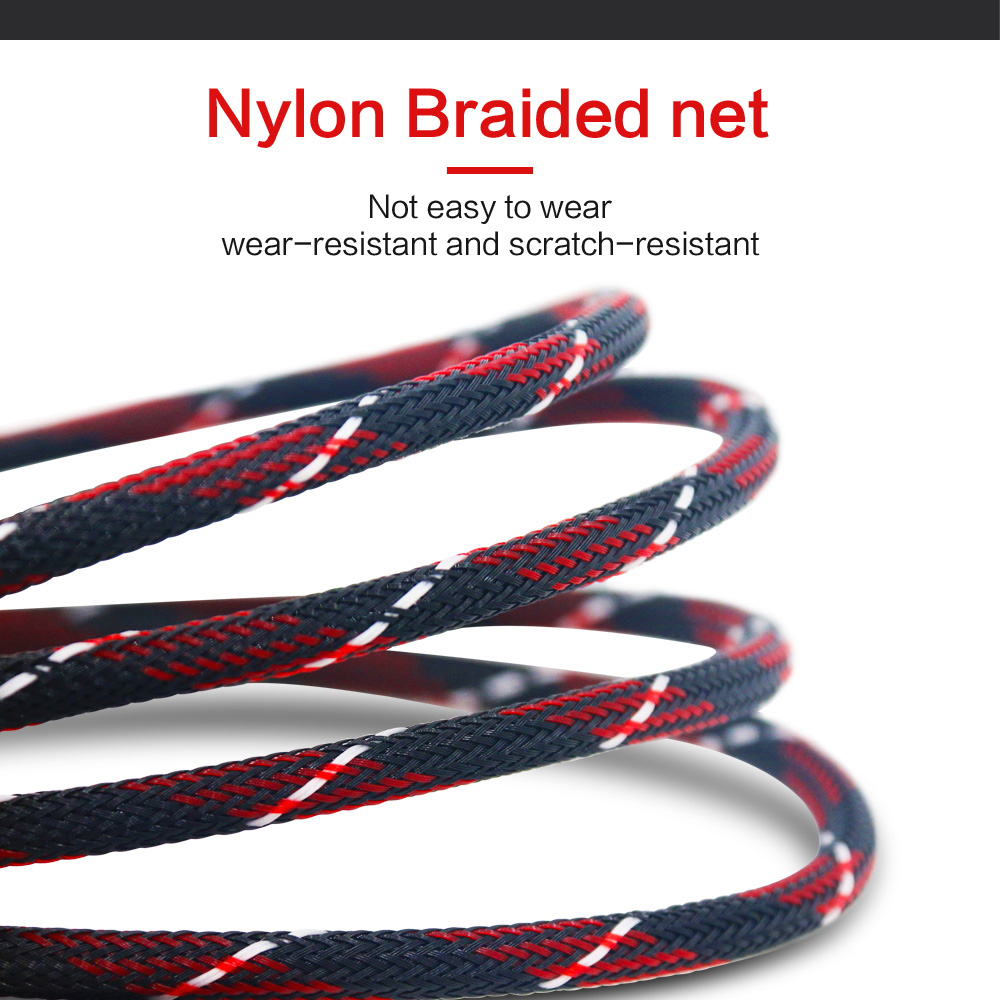 Nylon Braid HDMI Cable 0.5M 1M 2M  3M 5M 8M 10M HDMI Cord 1080P 3D for PS4 Xbox Projector HD LCD Apple TV PC Laptop Computer