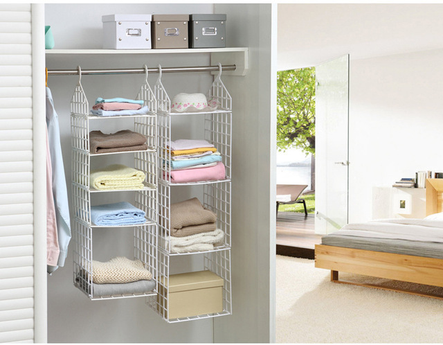 DIY Clothes Rack Storage Rack Multifunction Foldable Underwear Storage  Organizer Closet Hostel Bag