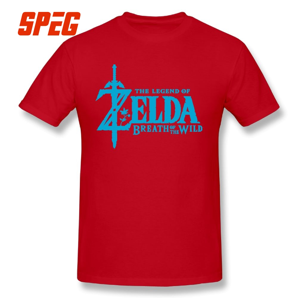 The Legend Of Zelda Breath of the Wild Short Sleeved Male T Shirts Amazing Print T-Shirts Purified Cotton Tee Shirt