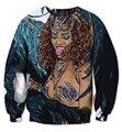 free shipping Women Men Long Sleeve Outerwear 3D print Sexy Rihanna X-Rated Crewneck Pullovers Female Fashion casual Sweatshirt