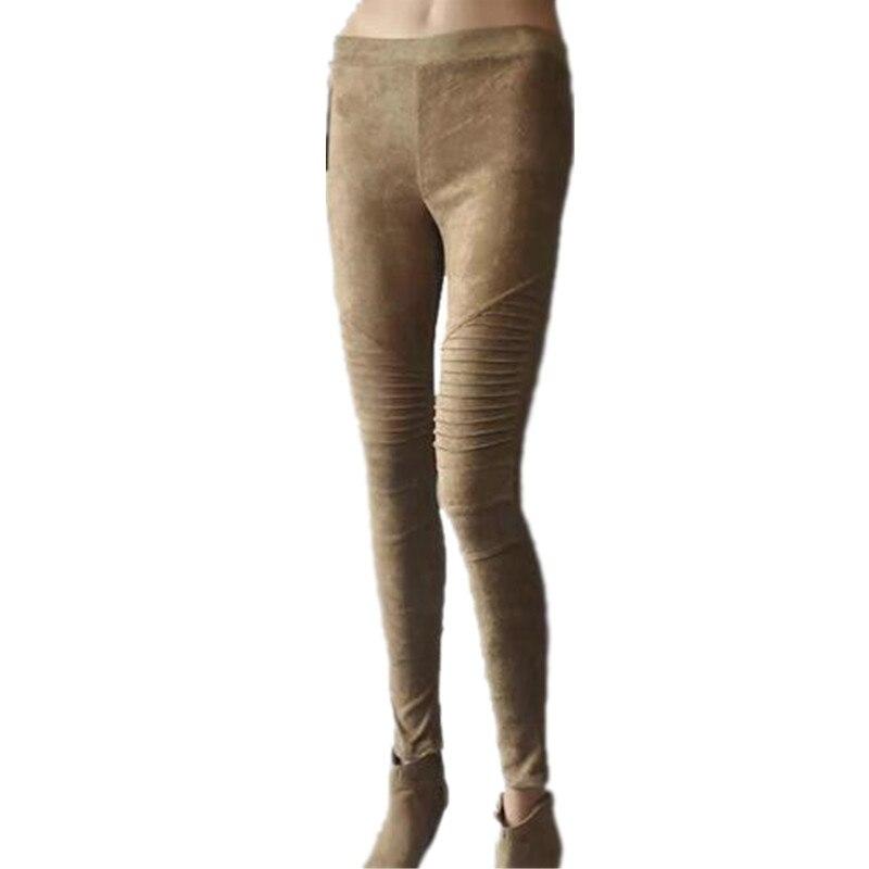 Leggings de gamuza sintética Pantalones pitillo pitillo sexy Mujer - Ropa de mujer