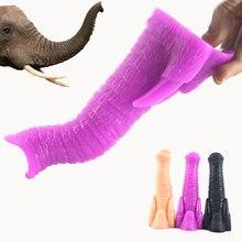 FAAK Big Dildo Animal Dildo Realistic Elephant Trunk Shape Sex Toys For Women Masturbator Anal Plug Anus Massage Couple Flirt