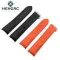 20mm 22mm Watchbands Mens Orange Silicone Rubber Diver Waterproof Watch Band Curved End Watch Strap Bracelets Accessories