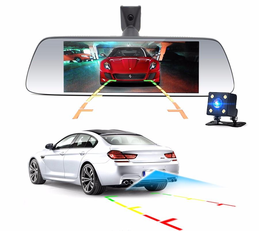 "Junsun 7"" Car GPS Navigation Android 5.0 Special 3G DVR Camera Rearview Mirror Dual Lens Truck gps sat nav Navitel Europe Maps 8"