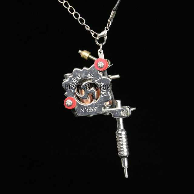 Tattoo gun permanent makeup machine 1pc mini tattoo machine pendant tattoo gun permanent makeup machine 1pc mini tattoo machine pendant with chain lucky seven necklace 45cm mozeypictures Gallery
