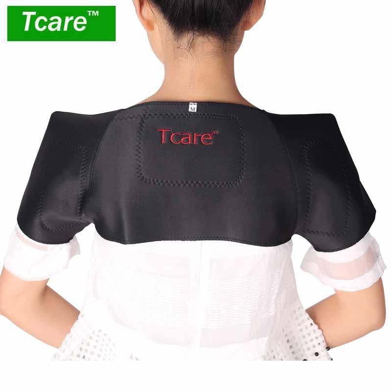 * Tcare 1Pcs ტურმალინის თვითგამათბელი მხრის ბალიშები დამხმარე მასაჟორი მაგნიტურ-საშვილოსნოს ყელის გაყინული მხრის პერანგის მასაჟი ჯანმრთელობის დაცვა