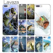 Lavaza Bass Fishing Lake Sunset Fisherman Hard Phone Case for Apple iPhone XR XS Max X 8 7 6 6S Plus 5 5S SE 5C 4S 10 Cover(China)