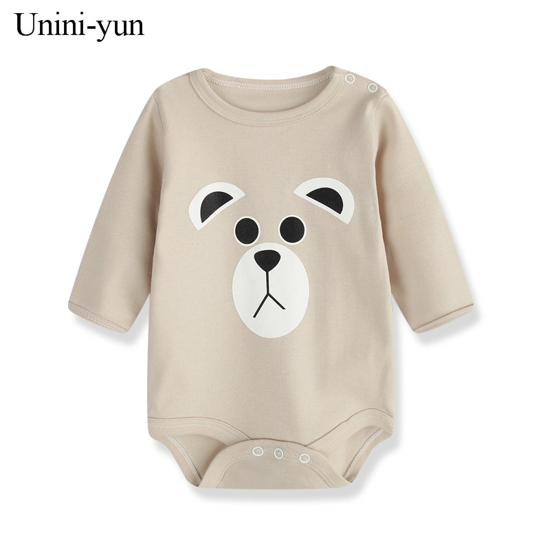 [Unini-yu]Cartoon Bear Long Sleeve Baby Romper Baby Girl One Pieces Cute Clothes Jumpsuits Roupas De Bebe Infantil Baby Clothing