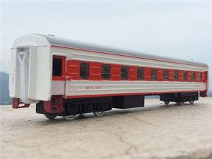Image 2 - High simulation train model.1:87 scale alloy pull back Double train, passenger compartment,metal toy cars,free shipping