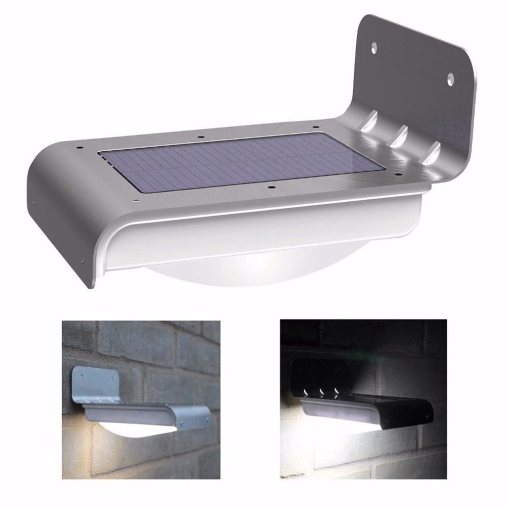 16LED Solar Light Human Body Induction Outdoor Waterproof Villa Stair Light Garden Curved Translucent Cover Wall Light
