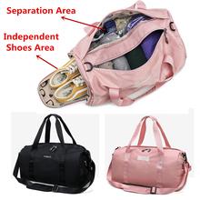 Suchej mokrej bagażu Duffel skrzynki wodoodporna torba podróżna dla kobiet oddzielne miejsce na buty Fitness torebki na ramię mężczyźni ponad milion osób powiedziało w zeszłym miesiącu że torba tanie tanio Aequeen NYLON Moda zipper Stałe Podróż torba WOMEN Miękkie Nylon Travelling Bag For Ladies Luggage Duffel Wszechstronny