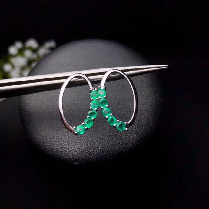 Natural green diopside stud earrings 925 silver natural gemstone earrings Lovely big round circle girl party gift fine jewelry цена