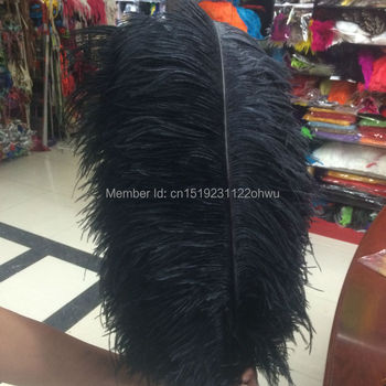 New 10 PCS beautiful natural black ostrich feathers wholesale 60 to 65 cm / 24 to 26 inches decorative feather