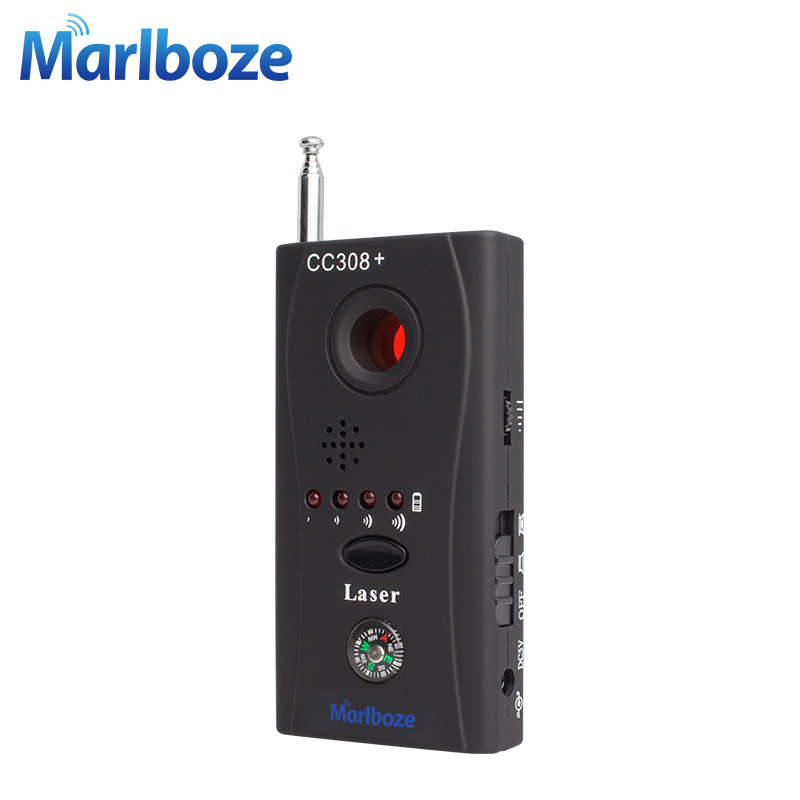 Marlboze CC308 Wireless FNR Full-frequency Detector GSM Device Finder Cam Laser Lens RF Signal Detector