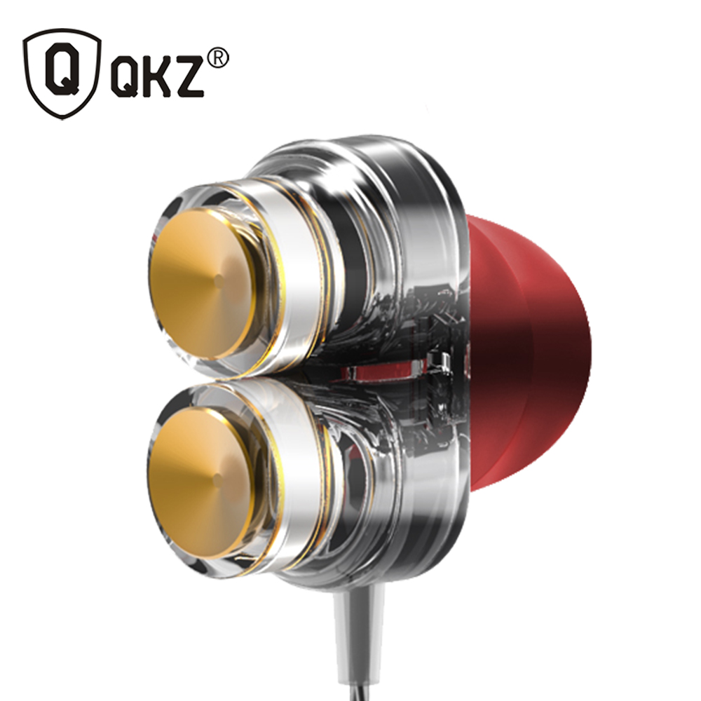 Genuine QKZ KD7 Earphones Dual Driver With Mic gaming headset mp3 DJ Field Headset fone de ouvido auriculares