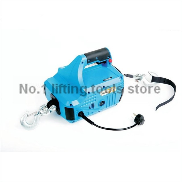 220V 50HZ 450kg 4.6M mini wire rope hoist electric winch Tire ...