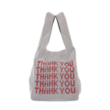 Thank you sequins Bags Women Small Tote Bags Crystal Bling bling Fashion  Lady Bucket Handbags Vest 25966c2f8f9d