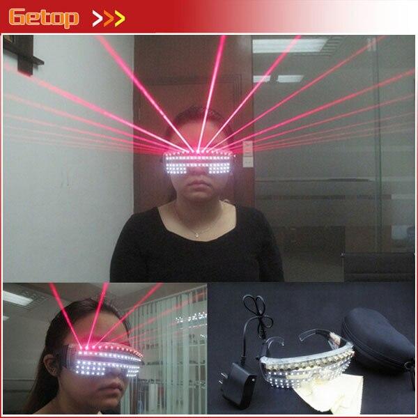 Новое поступление Рождественские лазерные очки Ночной клуб декорации диджея 532nm 80 МВт красные Лазерные белые светодио дный очки сценивечер