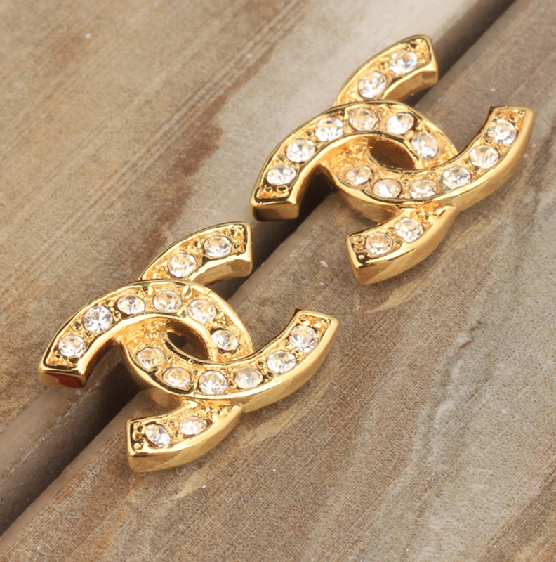 Special offer White Cubic Zirconia Cricle Shape Stones Gold Color Studs Earrings For Woman Trendy Jewelry