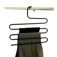 5 Tier Rvs S Type Broek Hangers Magische Hanger Broek Tie Sjaals Riem Handdoek antislip Opbergrek 3 Kleur Hot Koop