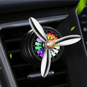 Car Perfume Air Freshener Vent Outlet LED Mini Alloy For Peugeot 307 206 308 407 207 3008 406 208 508 301 2008 408 5008 image