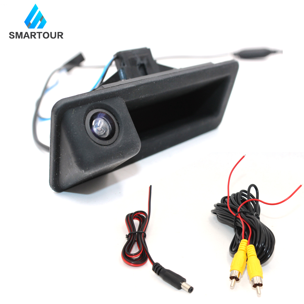 Smartour Car Backup Reverse Camera 140 Degree Wide Angle HD Reversing Rear View For BMW E82 E88 E84 E90 E91 E92 E93 E60 E61 E70