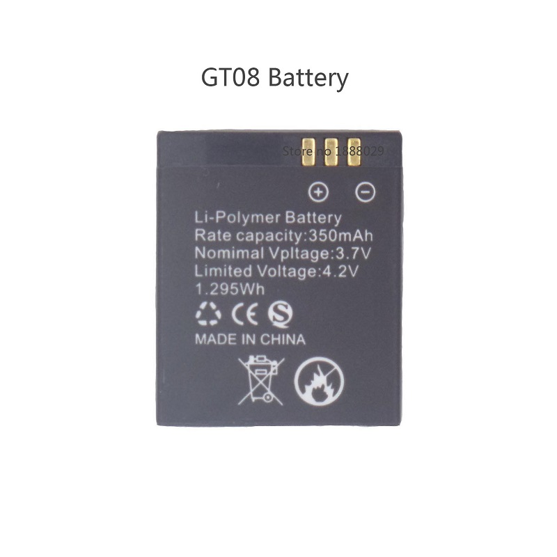 Brand New Replacement Battery for Smart Watch GT08,350mah Rechargeable Lithium Polymer Spare Battery for Smart Watches GT08