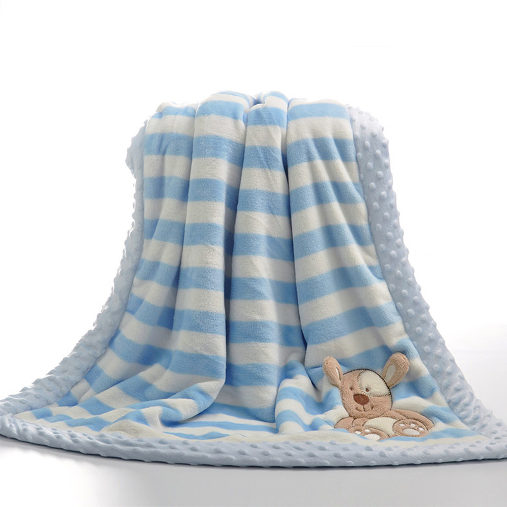Baby Blankets Newborn Swaddle Wrap Cartoon Toddler Stroller Bedding Blanket Winter Flannel Children Quilt Baby Products 100*75cm