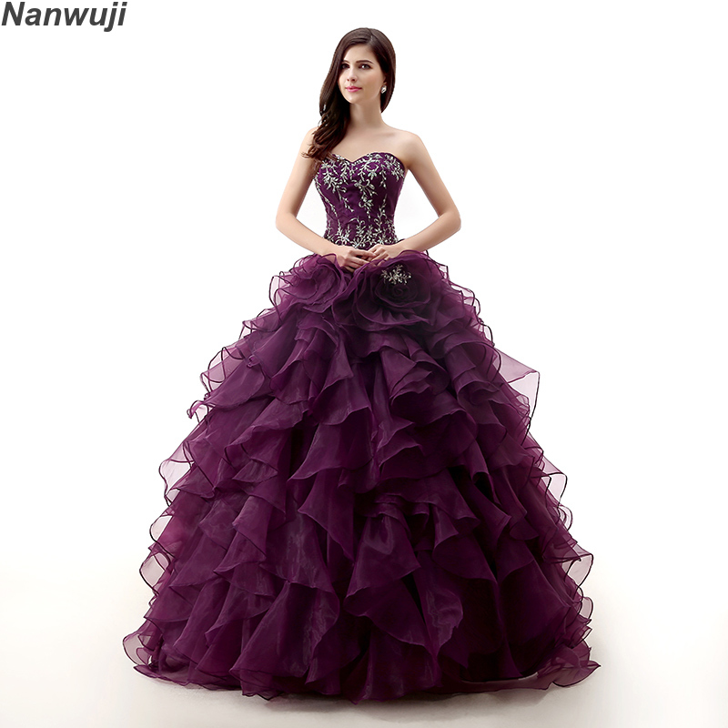 Real Photo Luxury Pink Organza Off The Shoulder Ball Gown